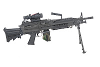 M249 Squad Automatic Weapon light machine gun LMG