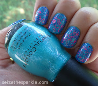 SinfulColors Sky Tree Manicure