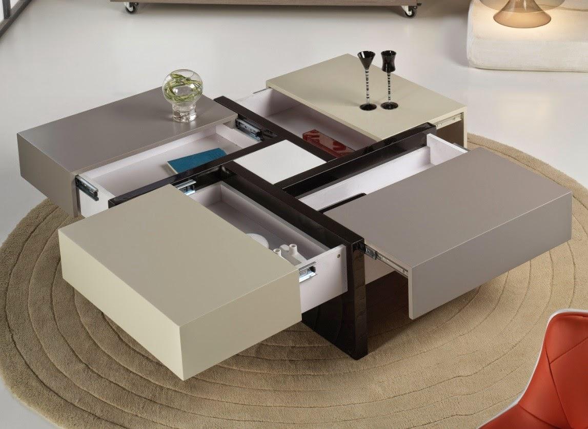 Original y funcional mesa ratona con 4 cajones ocultos - Mesas con cajones ...