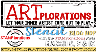 ARTplorations Stencil Blog Hop!