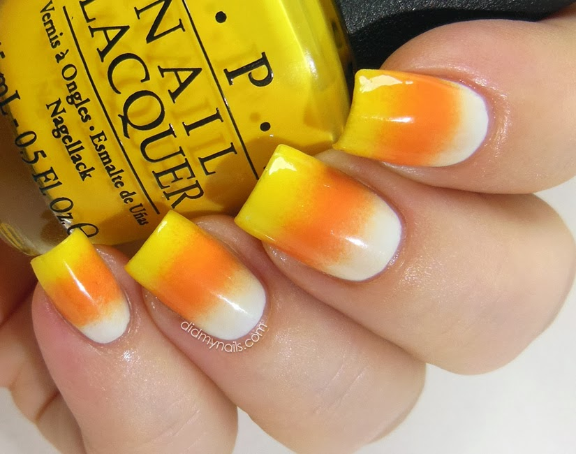 Did My Nails Wayback Nails Candy Corn Gradient