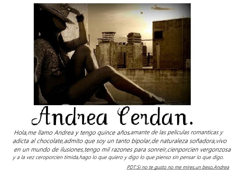 Andrea Cerdán Chacón.