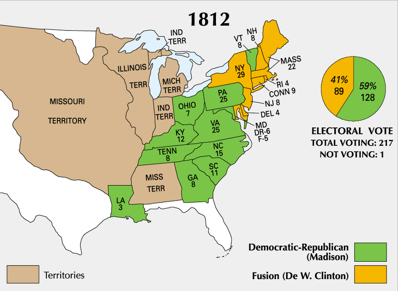 account of the 1812 presidential elections During the war of 1812,  (elections/inaugurations),  john f kennedy in the white house is the most famous account of the jfk presidency.