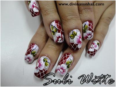 unhas decoradas carga dupla flores e botoes by suli witte6