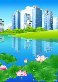 lago en la ciudad