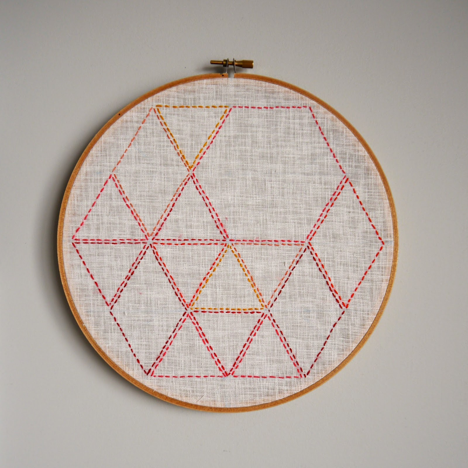 Make It // Embroidery Hoop Earring Holder - Sarita Creative