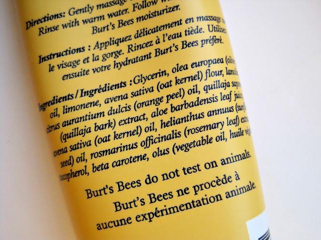 Review | Burt's Bees Orange Essence Facial Cleanser