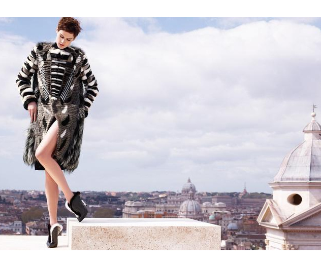 Fendi Fall/Winter 2013 fur coat Campaign