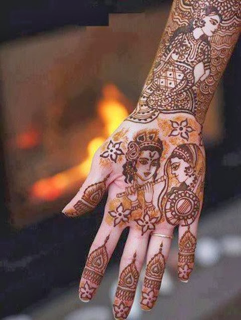 Mehndi Hairstyles 2014 : Mehndi designs for cute girls and women all the