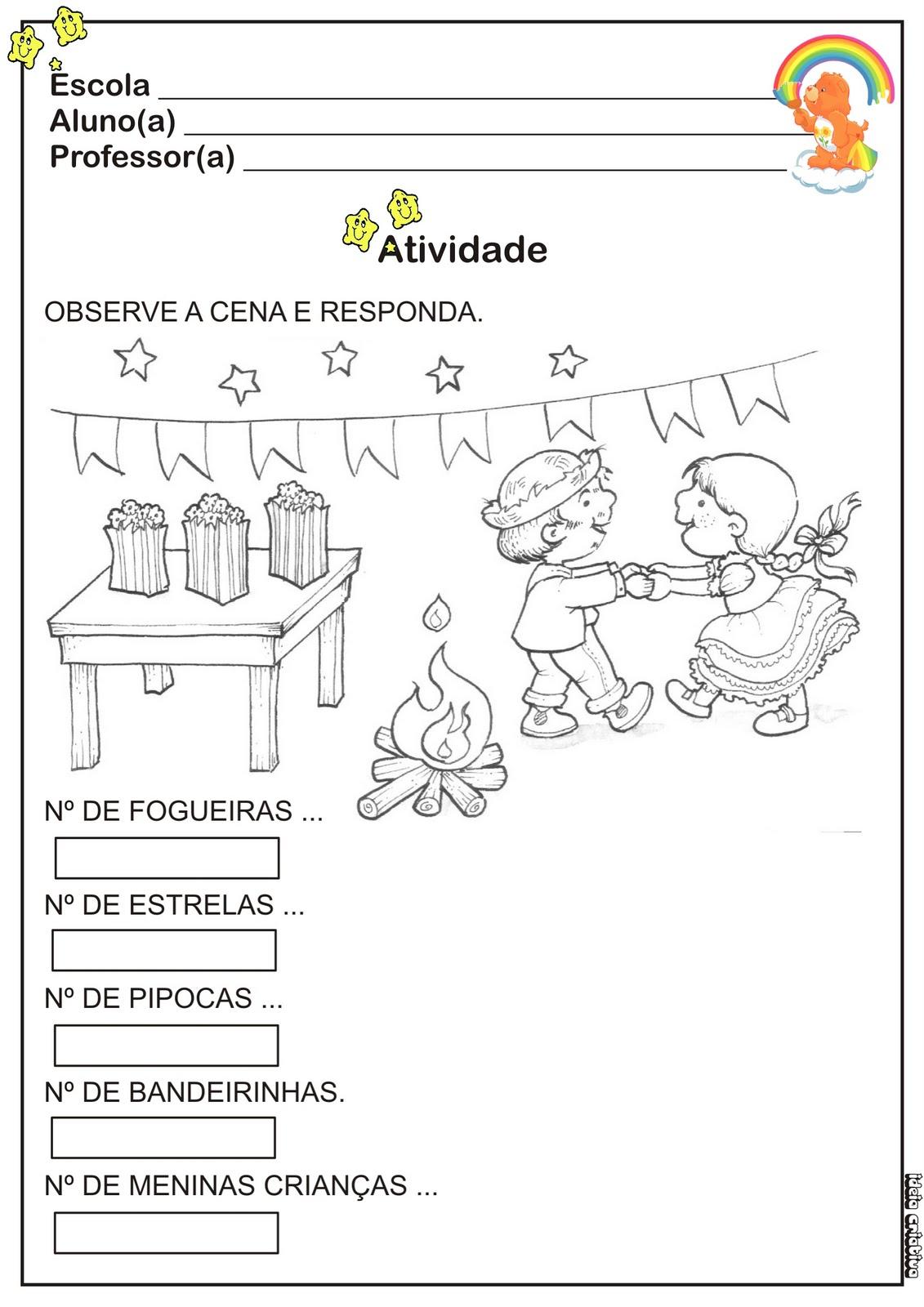 ATIVIDADE Festas Juninas Educa O Infantil Ideia Criativa Gi