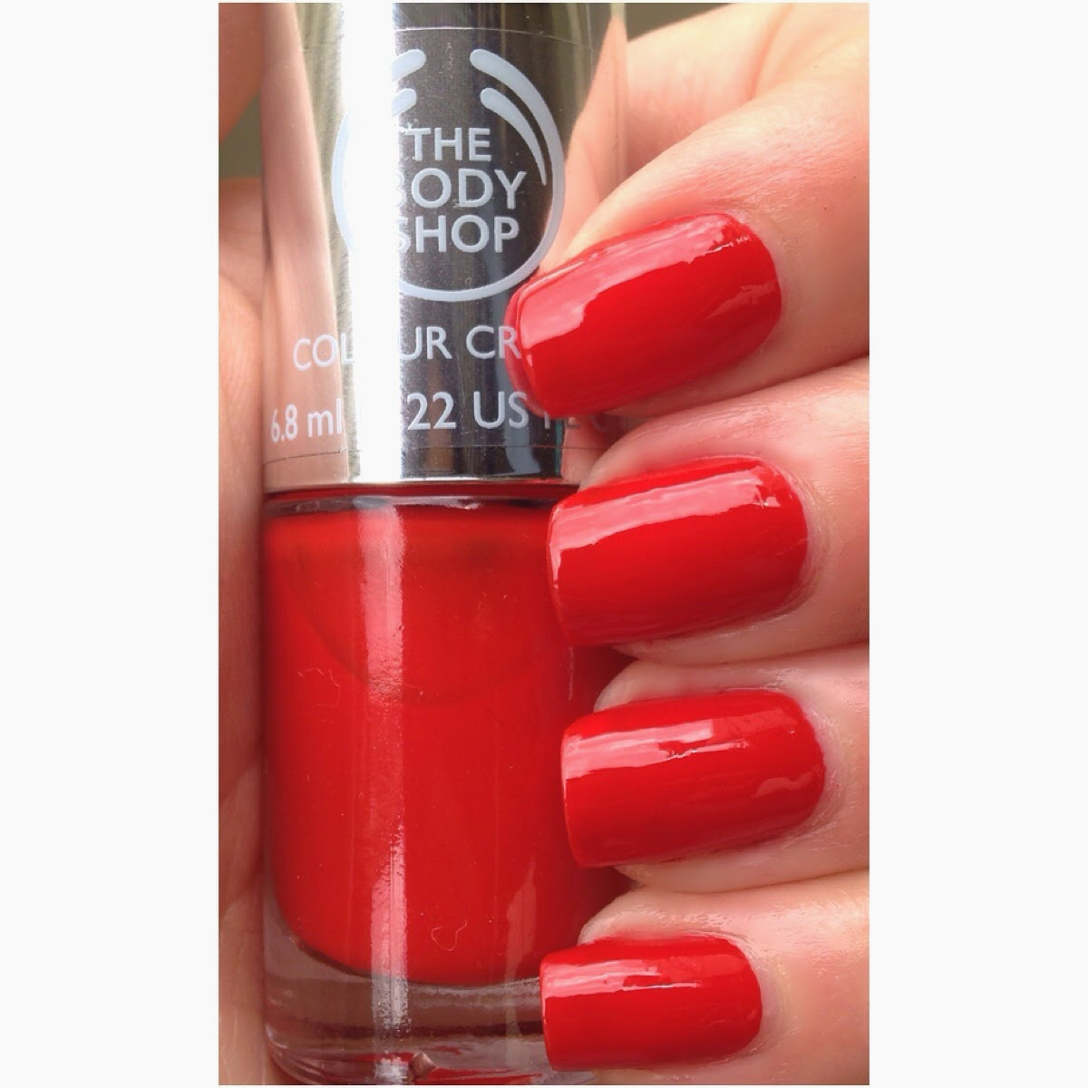 Red My Mind Is A Bright Fire Engine Nail Polish Colour It Takes One Coat Of To Get Opaque However With You Can Still See Visible
