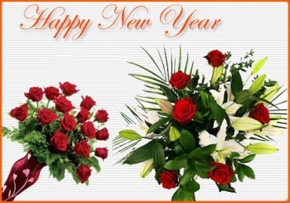 Creative Happy New Year Wallpapers, New Year Flowers