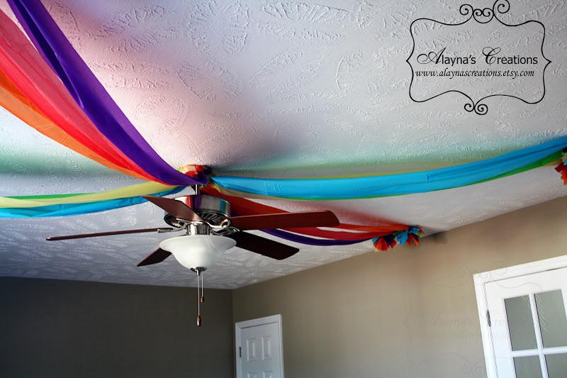 Rainbow Ceiling Fan : Alayna s creations rainbow dance party slumber