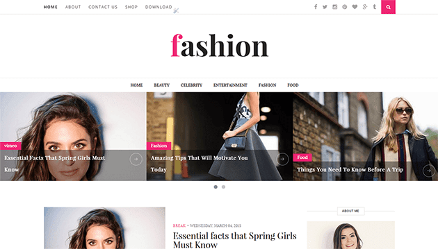 Fashion Clean & Responsive Blogger Template | ThemeXpo