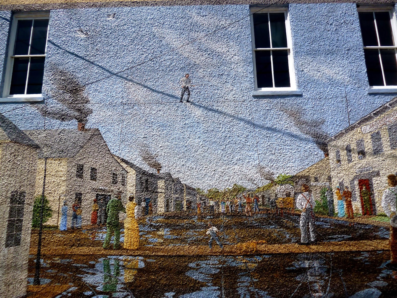 Awesome High Time In Palatka, Circa 1872. This Mural Remembers Street Entertaining.