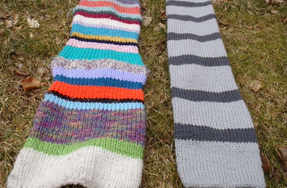 Stana\'s Critters Etc.: Knitting Pattern for Funky Stripes Scarf