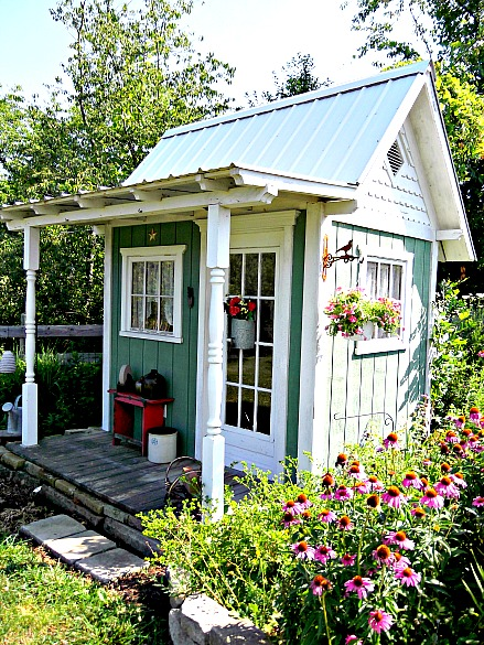 What 39 s old is new the garden shed cottage charm for Backyard cottage shed
