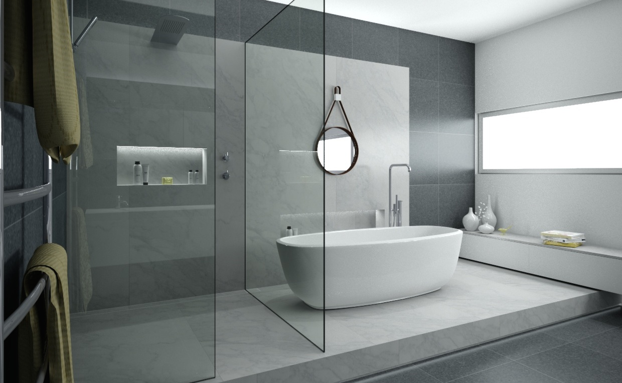 Minosa a real showstopper modern bathroom for Contemporary ensuite bathroom design ideas