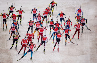 IBU, Biathlon World Cup, Oberhof, Germany, Shooting, Skating, Sports, Martin Fourcade, France, Alexey Volkov, Russia, Tarjei Boe, Norway, Won, Winner,