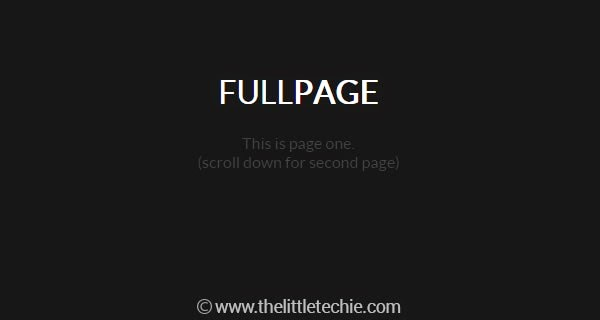 Responsive full page div using CSS