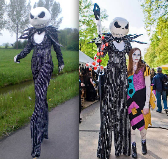 deviantart member mnemousyne created this super tall jack skellington costume by making a suit that fits over stilts the head is built over a helmet - Best Halloween Costumes For Tall Guys