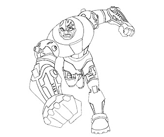 #1 Cyborg Coloring Page