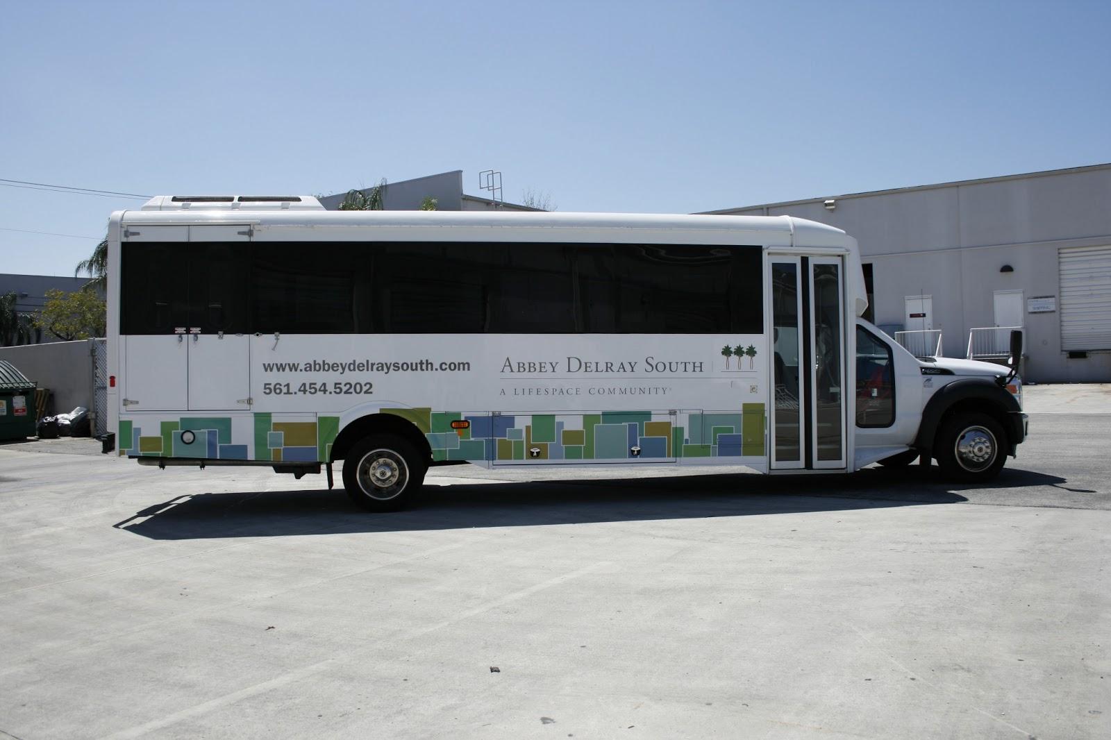 Shuttle Bus Wrap Delray Florida
