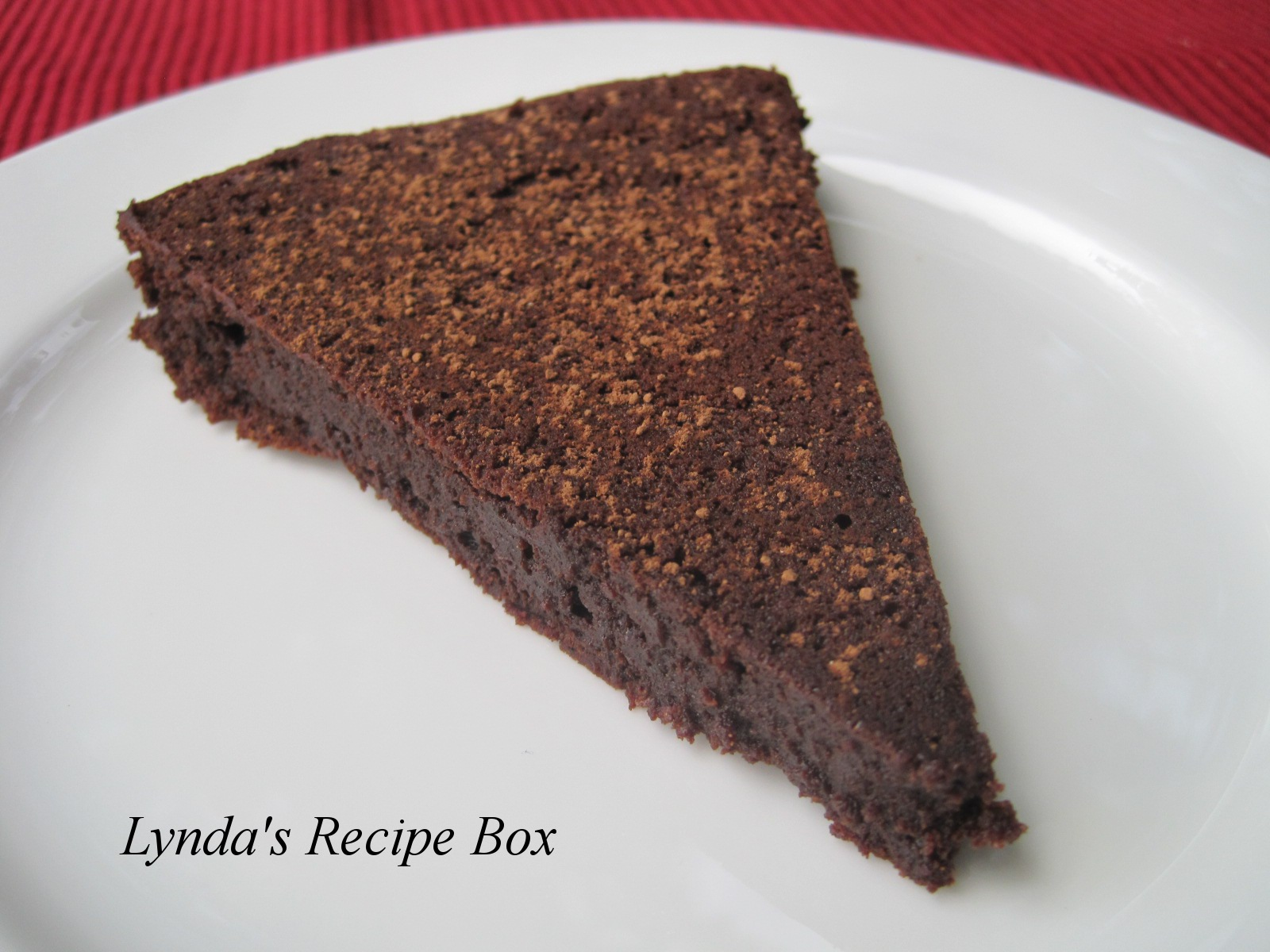 Flourless Chocolate Cake With Cocoa Powder