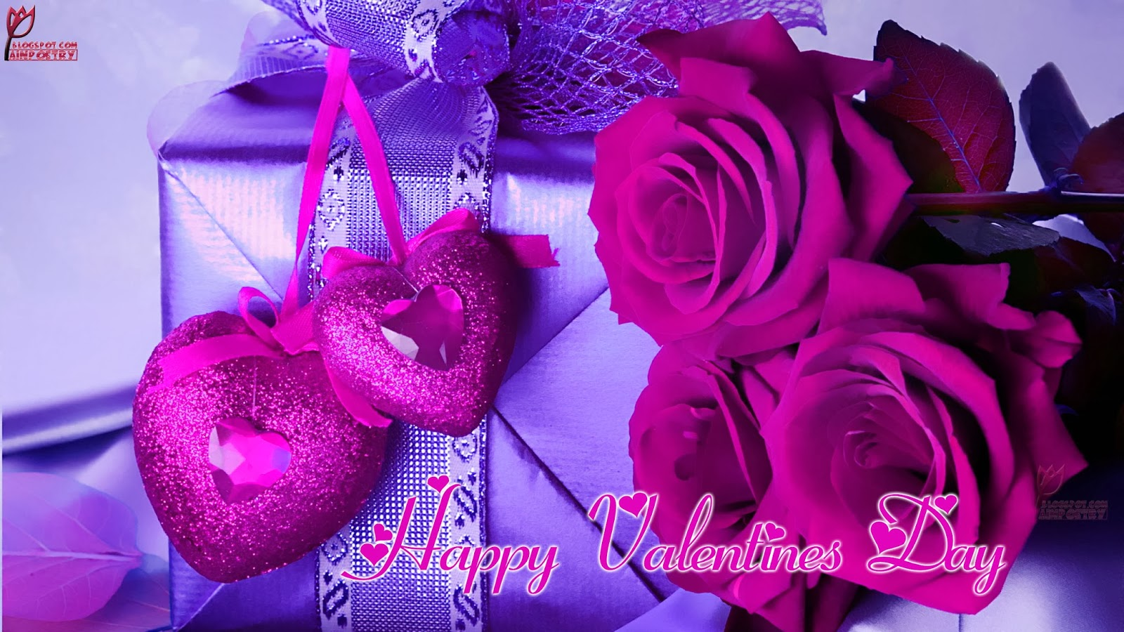 Happy-Valentines-Day-Wallpaper-Wishes-With-Flowers-And-Special-Gift-With-Heart-Image-HD-Wide