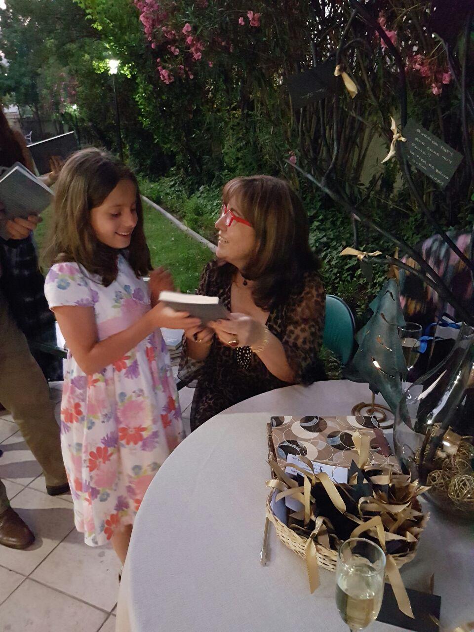 Mi fans más joven, quien dio un sello especial y significativo a la presentación de mi primer libro