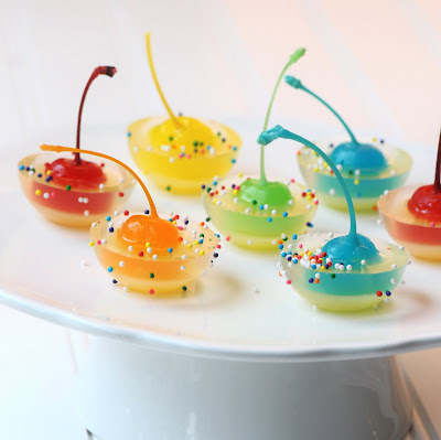 Rainbow Cherry Jigglers (Non alcoholic - Pineapple juice, white ...