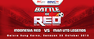 Prediksi Indonesia Red vs Man United Legends 23 Oktober 2013