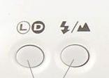 L/D 按鈕、閃光/風景模式