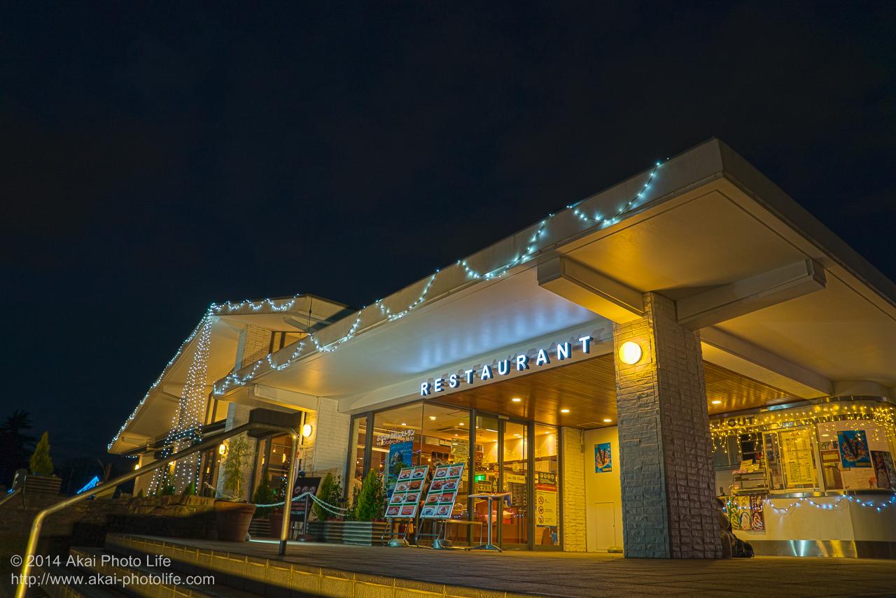 国営昭和記念公園のイルミネーション(ふれあい広場レストラン)