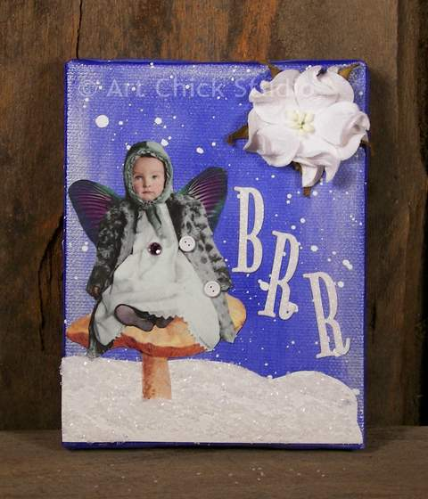 Snow Angel Canvas Art