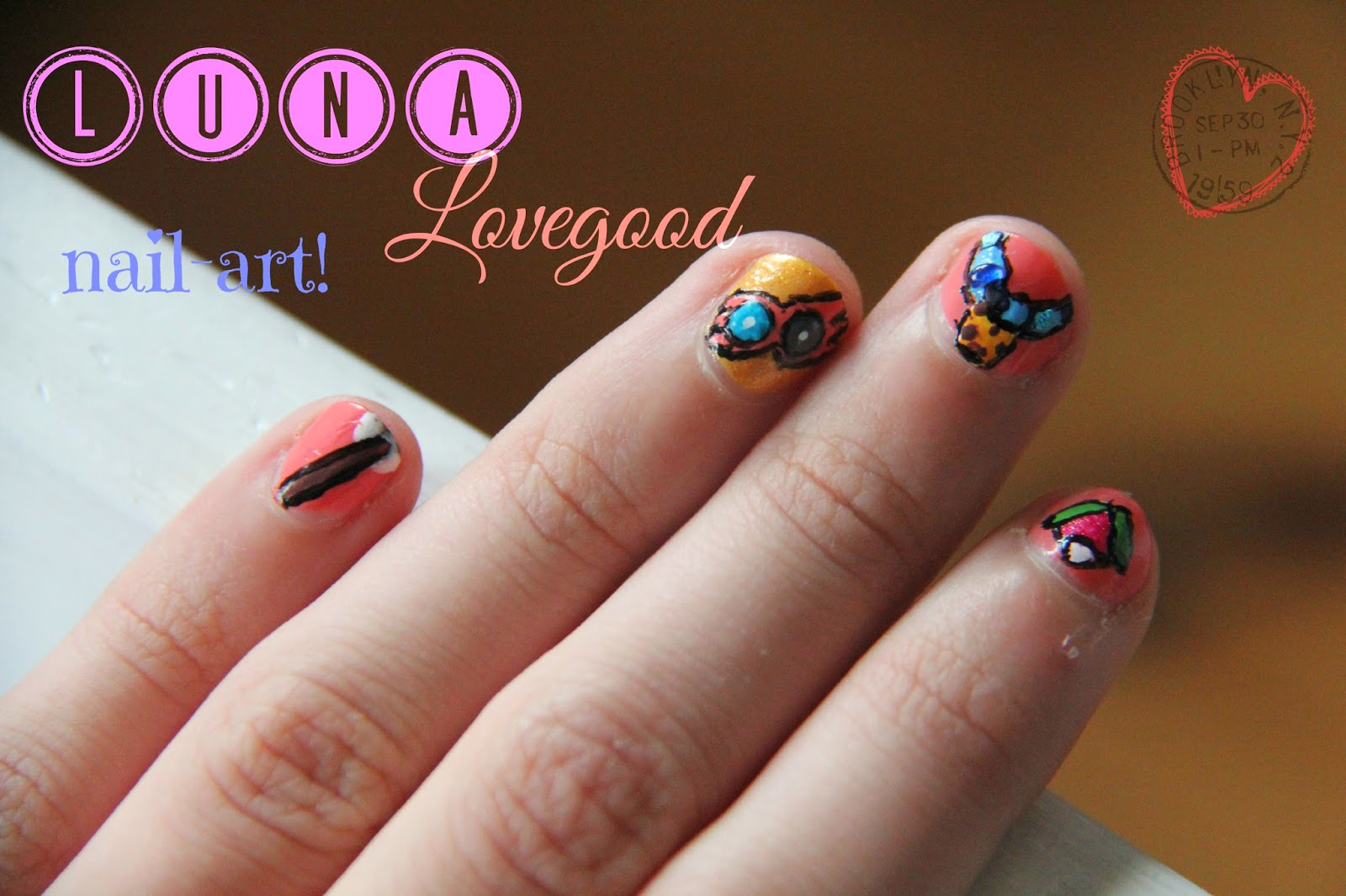 Lollovelife Harry Potter Nail Art Luna Lovegood