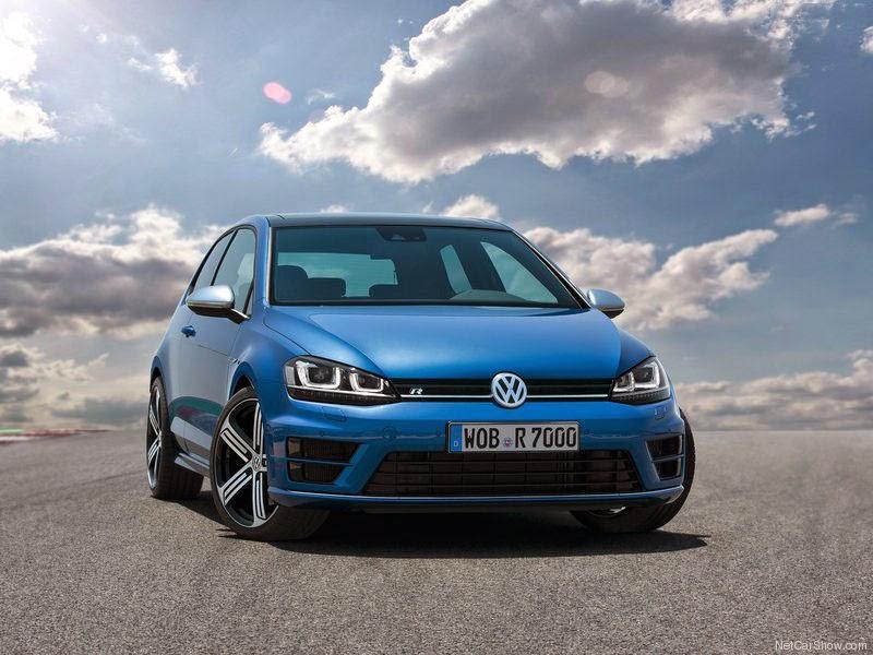 automóvel VW Golf R - fotos da frente de 2014