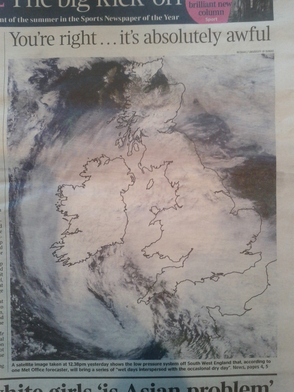 Cartonerd 2012 of the weather in fridays edition below the daily mail and the telegraph have been sticking the boot into apple and their new mapping products gumiabroncs