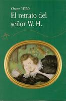 Portada del libro El retrato del señor W. H. de Oscar Wilde