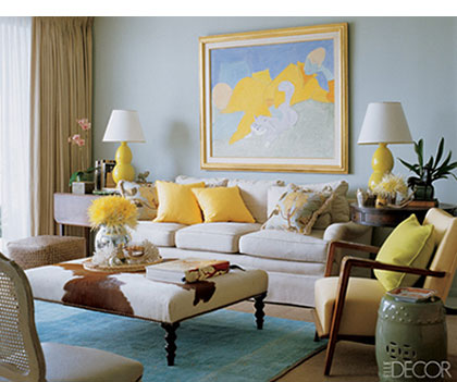 Sybaritic Spaces Yellow As An Accent Color