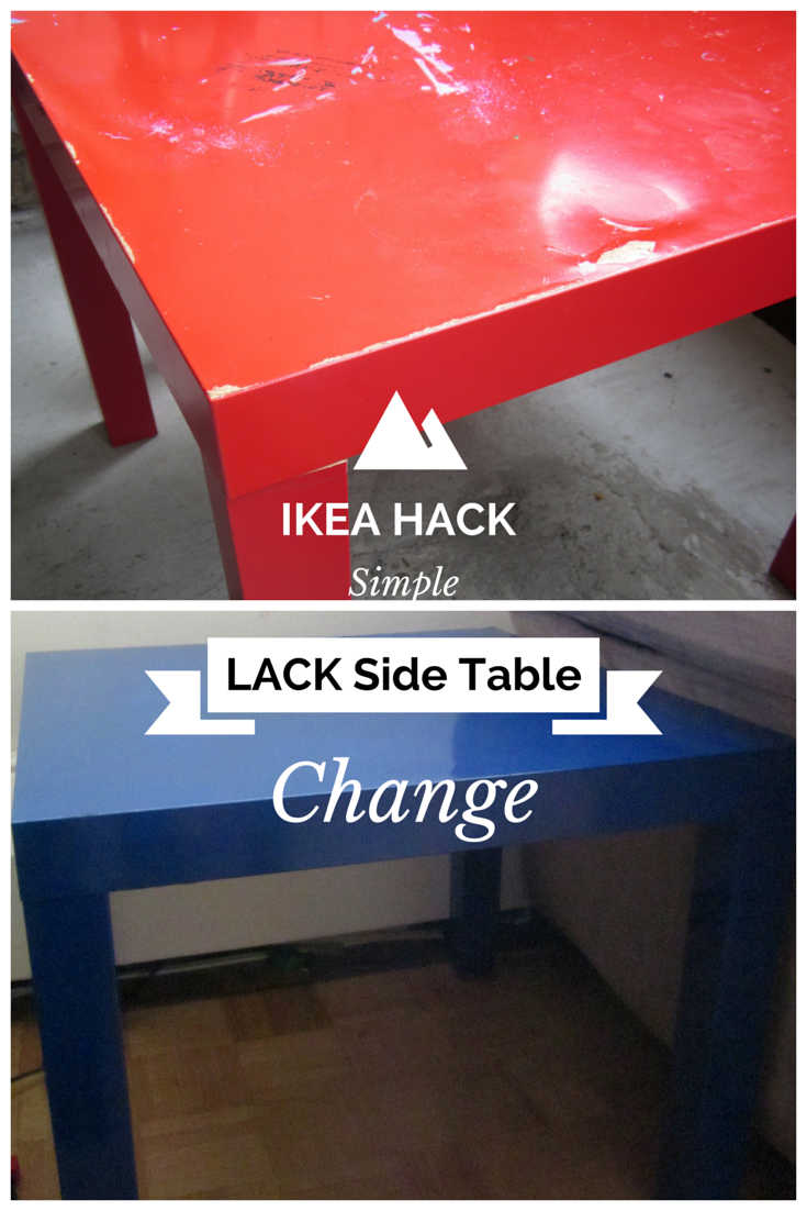 Ikea hack lack side table