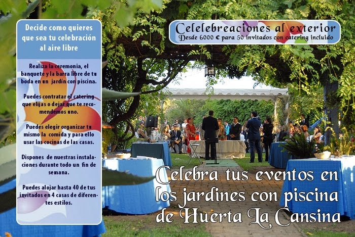 Condiciones para Celebrar su boda en Huerta La Cansina