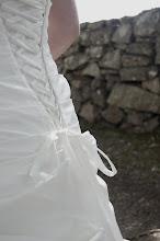 Min vackra snörning på brudklänningen