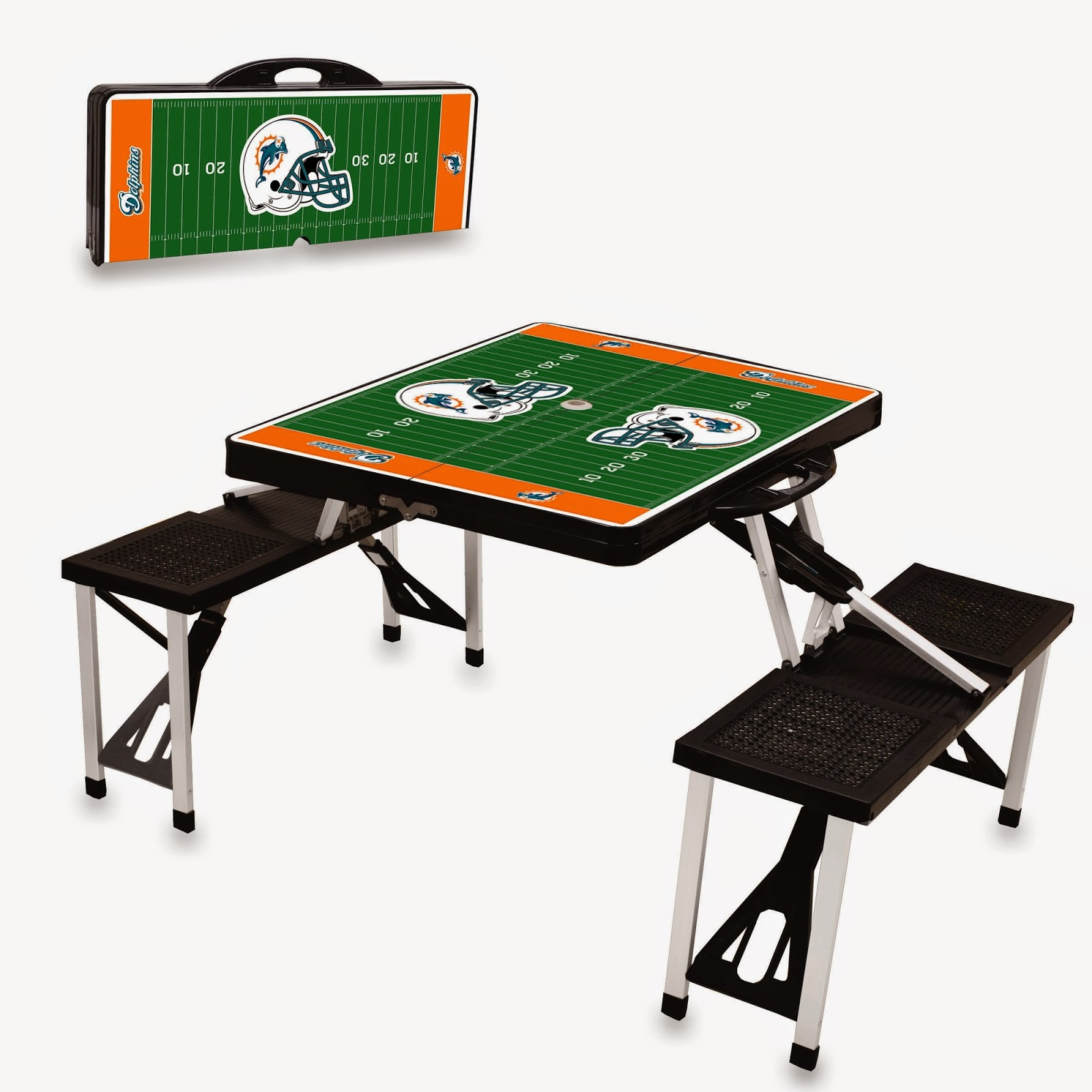 Picnic Time Miami Dolphins NFL Picnic Table