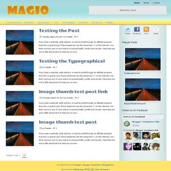 Magio blogger template. elegant blogger template for blog