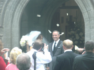 the bride and groom at adare manor