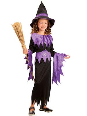 Hekse kjole i sort og lilla