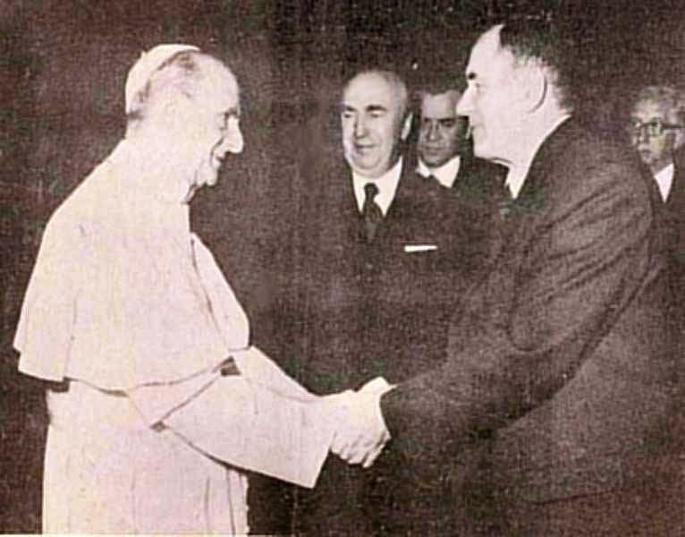 Paulo VI recebe o chanceler soviético Andrei Gromyko. A Ostpolitik vaticana silenciou a pobreza extrema que padeciam centenas de milhões de pessoas sob o comunismo