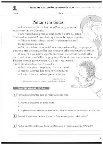 Desafios - Fichas de Avaliação de Português