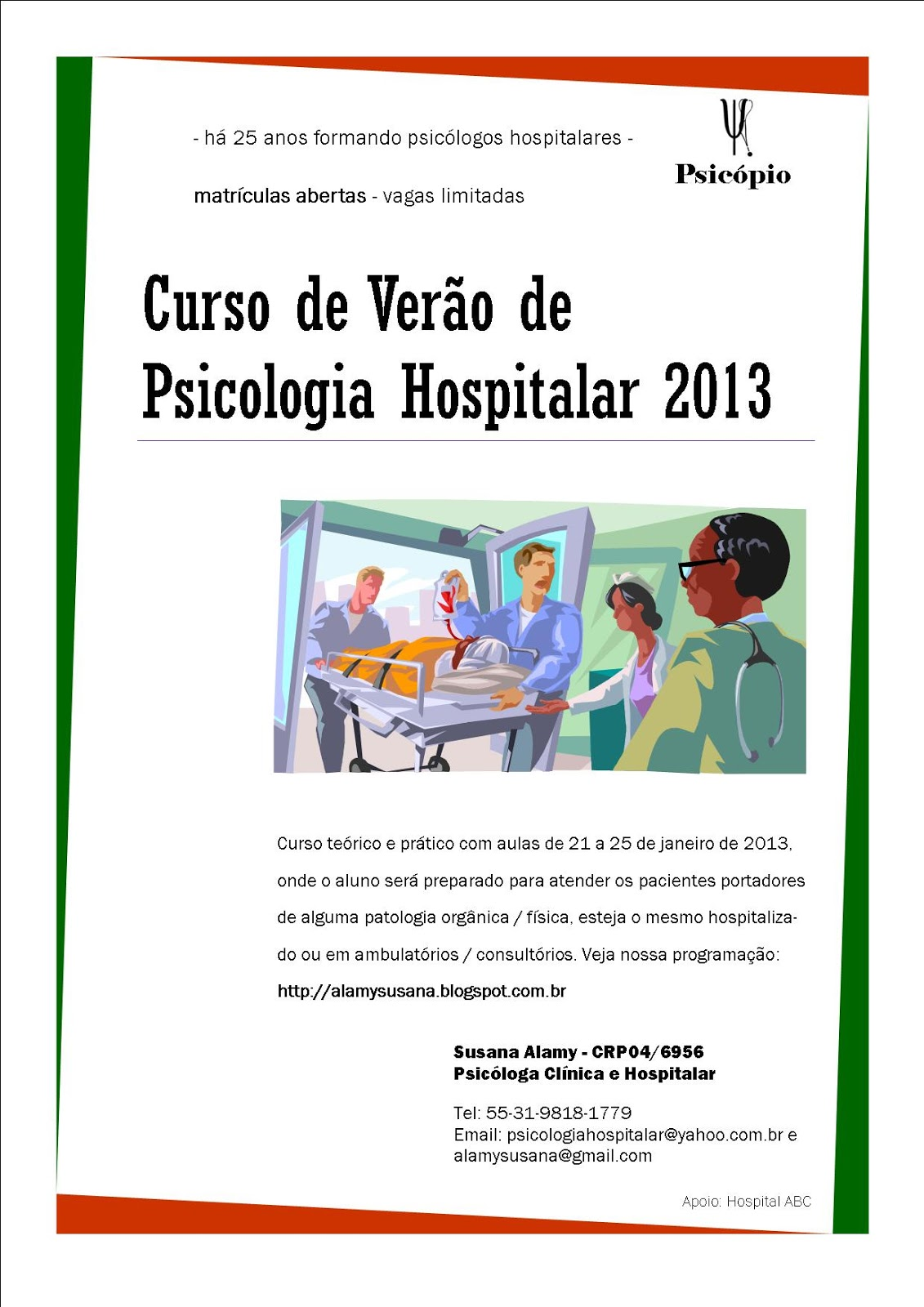 Curso psicologia hospitalar